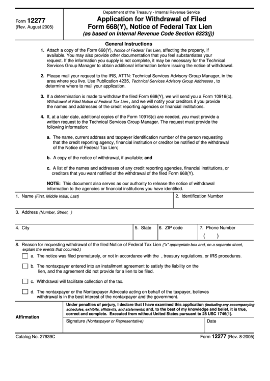 breech of notice application forms