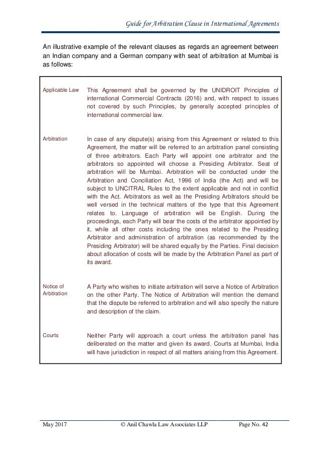 the law applicable to the arbitration agreement