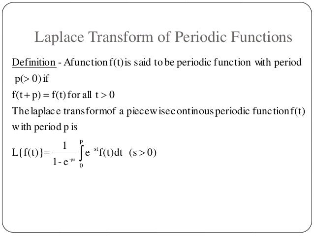 laplace transform and its application