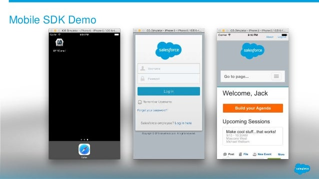 how to develop mobile application using salesforce