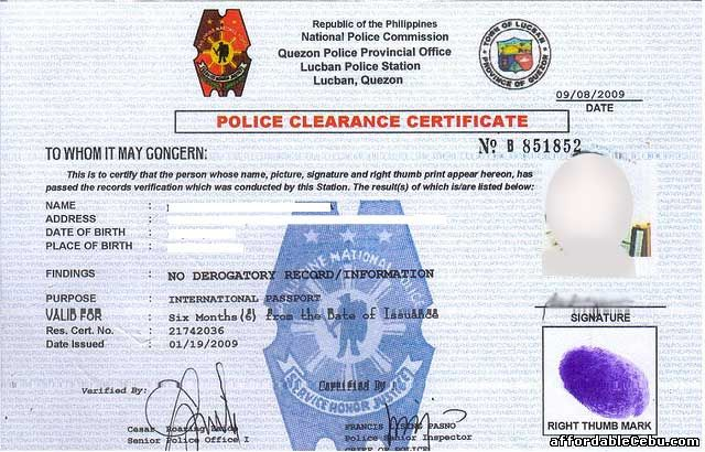 afp character certificate online application
