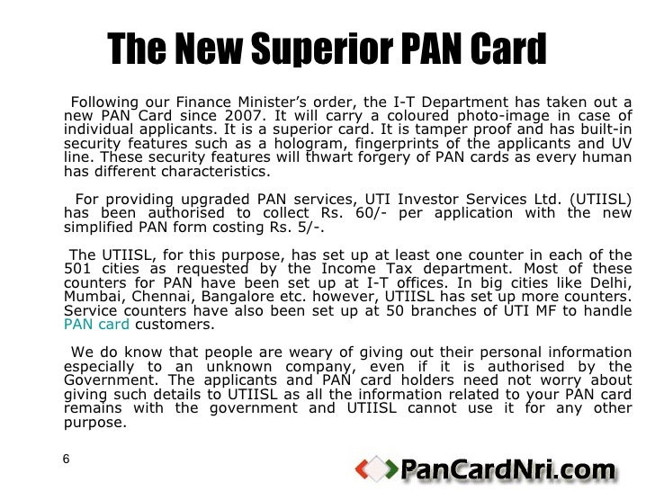 assessing officer for pan card application