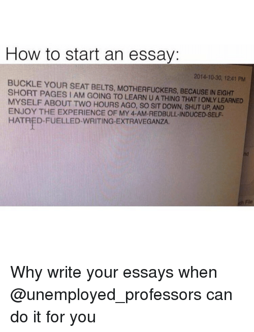 how to start an application essay examples