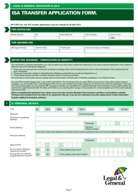 legal and general isa application form